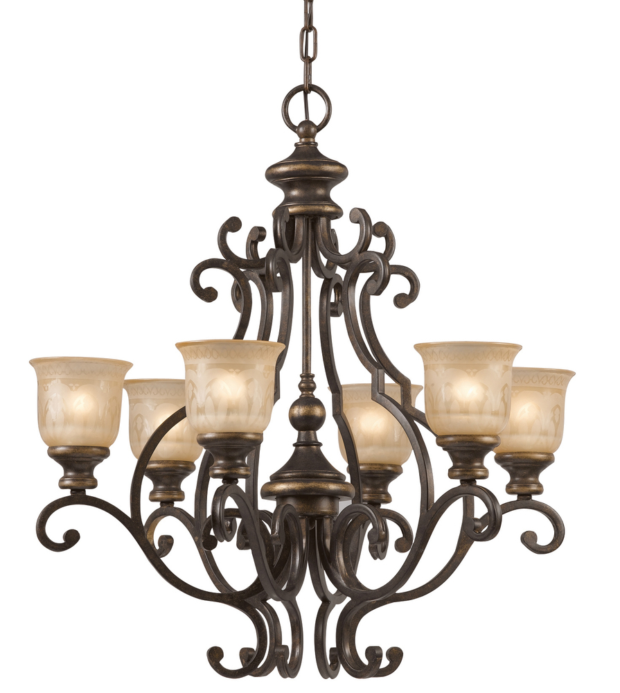 Crystorama Norwalk 6 Light Bronze Umber Chandelier