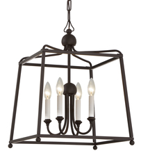Crystorama 2245-DB_NOSHADE - Libby Langdon for Crystorama Sylvan 4 Light Dark Bronze Chandelier