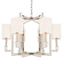 Crystorama 8886-PN - Crystorama Dixon 6 Light Polished Nickel Chandelier
