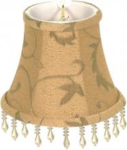 Satco Products Inc. 90/2359 - Clip On Shade; Khaki Beaded Floral