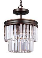 Sea Gull 7714002-710 - Two Light Semi-Flush Convertible Pendant