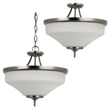 Sea Gull 77180-965 - Three Light Ceiling Semi-Flush Convertible Pendant