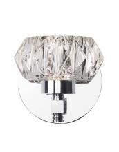 Kuzco Lighting Inc VL54204-CH - Beautiful Single Light Led Vanity With Vintage Crystal Cut Glass