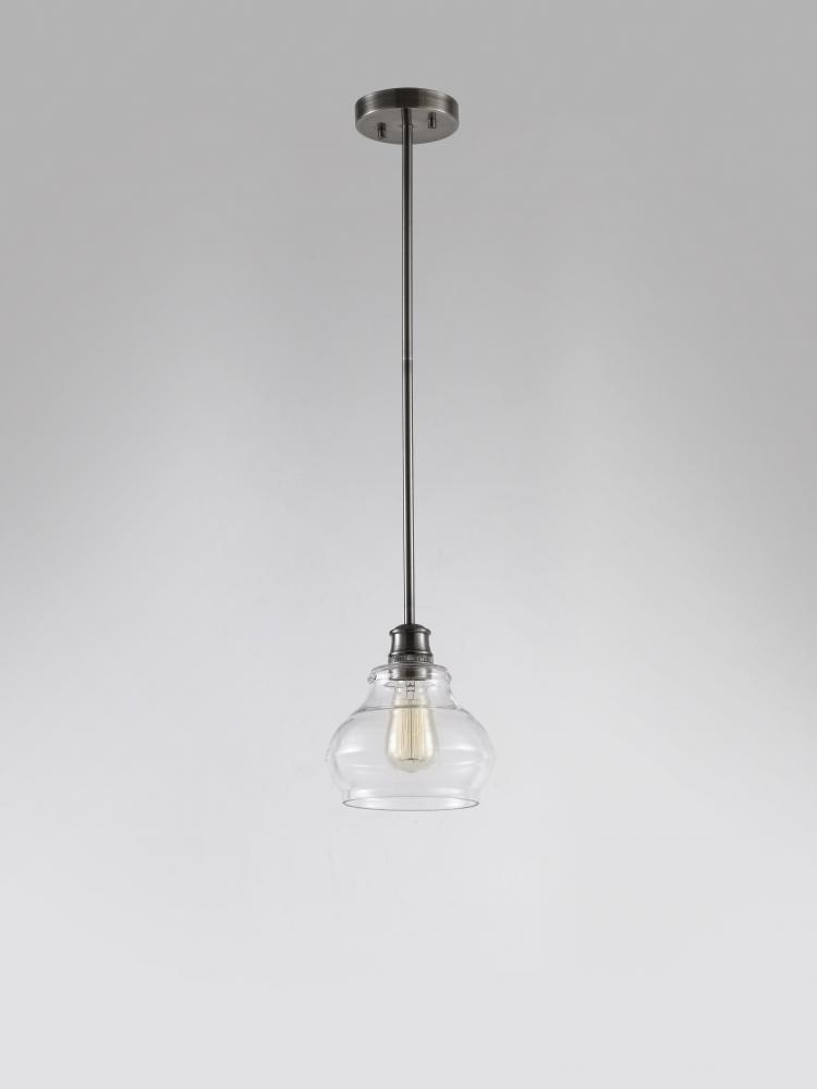 Elmwood Mini Pendant 1Lt Clear Glass