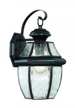 Lighting One US V13-NYW8409K - Newberry Water Glass Large Wall Lantern in Mystic Black