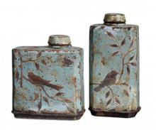 Uttermost 19547 - Uttermost Freya Light Sky Blue Containers, Set/2