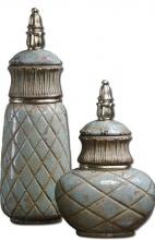 Uttermost 19689 - Uttermost Deniz Sea Foam Ceramic Containers S/2