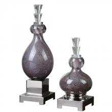 Uttermost 19842 - Uttermost Charoite Purple Glass Bottles S/2
