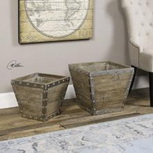 Uttermost 20027 - Uttermost Birtle Wood Containers S/2